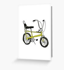 CHOPPER BIKE- Cool, iconic, graphic stylish 1970s bicycle Greeting Card