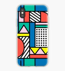 Memphis Color Block iPhone Case