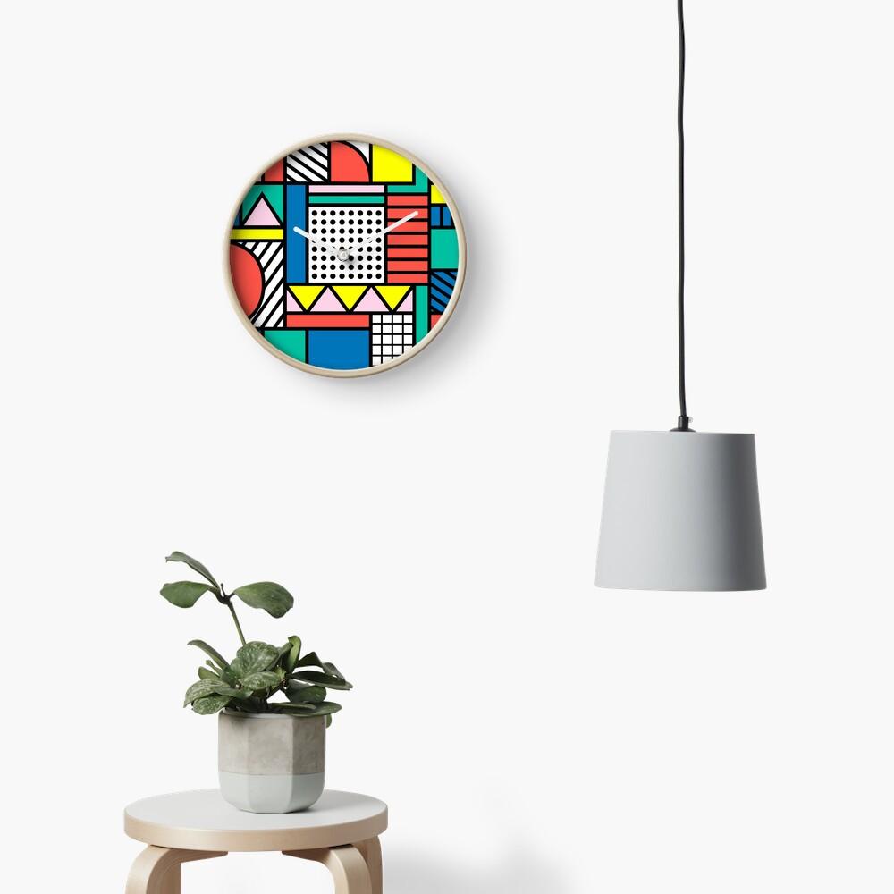 Bloque de color Memphis Reloj