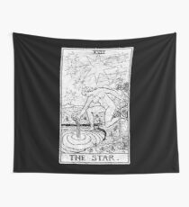 The Star Tarot Card - Major Arcana - fortune telling - occult Wall Tapestry