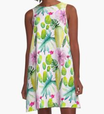 Summerly Tropical Pattern 6 A-Line Dress