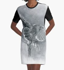 Great Grey Graphic T-Shirt Dress