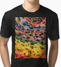 Traffic on Canvas Tri-blend T-Shirt