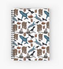 Animals in the wild Spiral Notebook