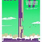 City 17 Travel Poster (green) by bubblemunki