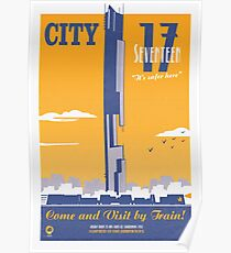 City 17 Travel Poster (orange) Poster