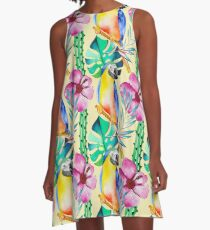 Summerly Tropical Pattern 13 A-Line Dress