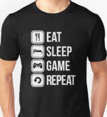 Camiseta ajustada Eat Sleep Game Repeat