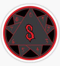 9 pointed star Sticker