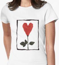 Flower Heart Women's Fitted T-Shirt