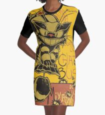 Nekobus, le Chat Noir Vestido camiseta