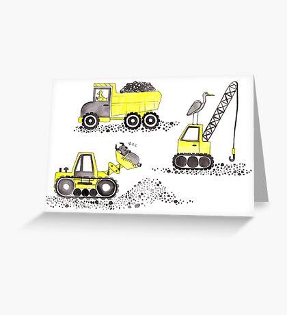 Construction Pun! Greeting Card