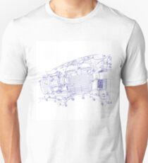 bonney drawing blue T-Shirt