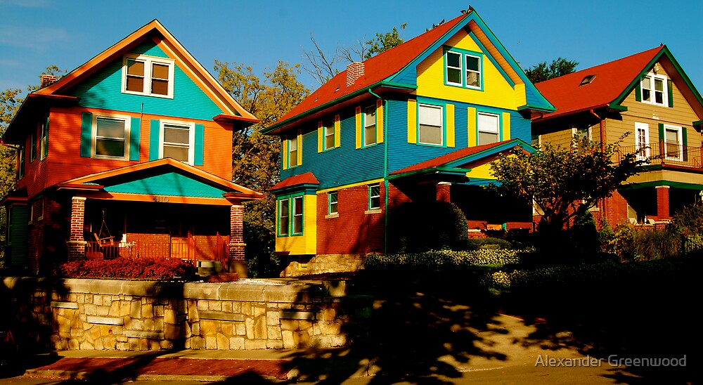 Technicolor Townhouses by Alexander Greenwood