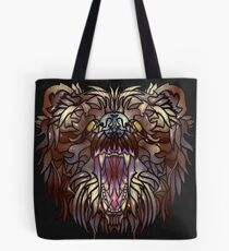 Elder Bear Colored Tote Bag