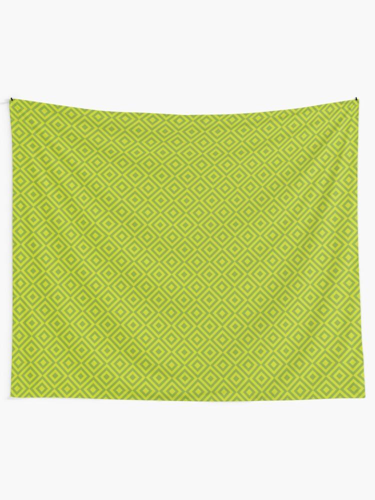 Alternate view of Geometric Pattern: Diamond Strobe: Lime Tapestry