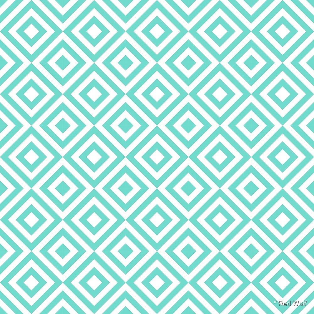 Geometric Pattern: Diamond Strobe: Blue by * Red Wolf