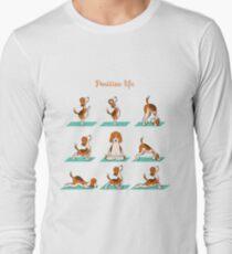 Beagle doing yoga T-Shirt