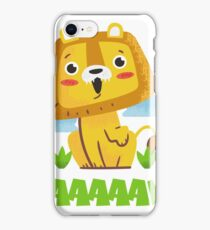 Sweet & Cute LION RAWR KIDS / CHILD DESIGN iPhone Case/Skin