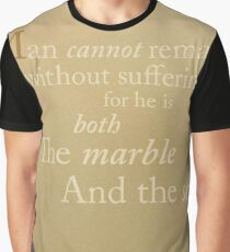 Man Is Marble and Sculptor Graphic T-Shirt