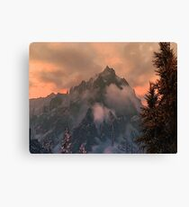 Sunset above the Grey Mountain Canvas Print