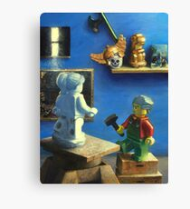 Gerome working marble. Canvas Print