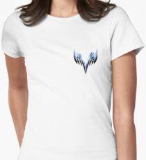 Geometric twin swords design Women's Fitted T-Shirt