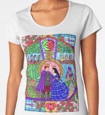 True Love in the Stained Glass Window Women's Premium T-Shirt