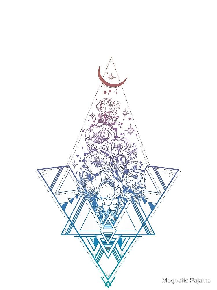 Geometría sagrada floral // Peonías del arco iris de MagneticMama