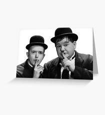 Laurel & Hardy -  Stanlio e Ollio Greeting Card