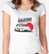 Honda Civic EG KANJO Women's Fitted Scoop T-Shirt