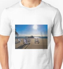 EMPTY BEDS ON THE BEACH T-Shirt