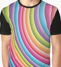 Abstract Colorful Rainbow Design 16 Graphic T-Shirt