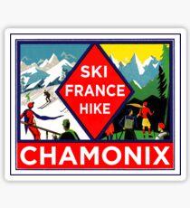 SKI CHAMONIX FRANCE HIKE SKIING HIKING VINTAGE Sticker