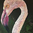 Pink Flamingo by Linda Ridpath