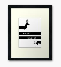 Easter dachshund  Framed Print