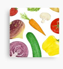 Watercolour vegetables Canvas Print