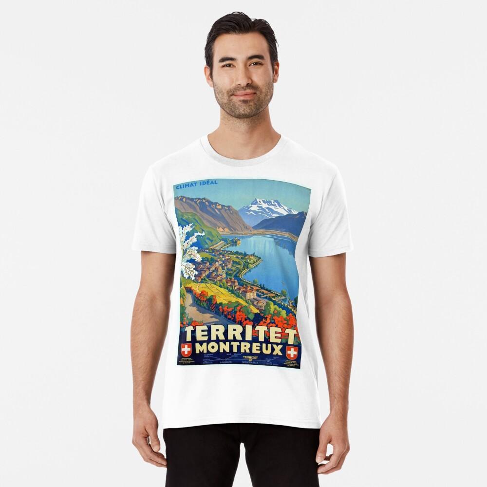 Weinleseplakat - Territet Montreaux Premium T-Shirt