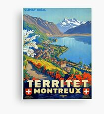 Vintage poster - Territet Montreaux Canvas Print