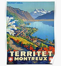 Vintage poster - Territet Montreaux Poster