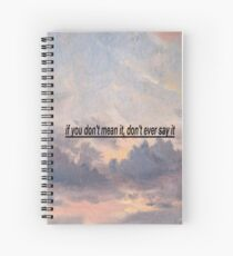 if you don't mean it, don't ever say it Spiral Notebook