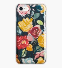 Roses Print by Jean Marie Roughley iPhone Case/Skin