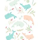 Pastel Whale Pattern by freeminds