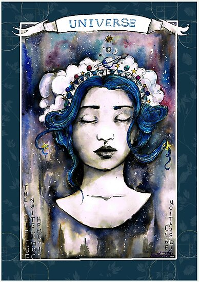 The Universe, Tarot Card illustration by Imasketcher
