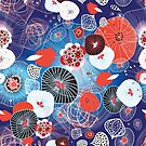 Seamless pattern of unusual abstract plants by Tanor