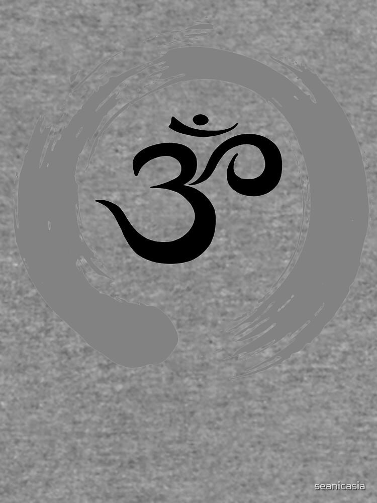 Ohm Sanskrit Symbol Zen Circle Namaste Peace Lightweight Sweatshirt