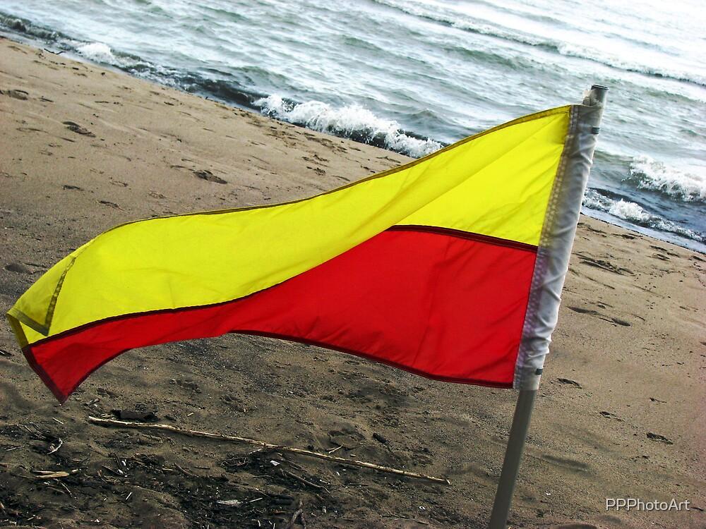 Beach Flag by PPPhotoArt