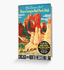 Vintage poster - Bryce Canyon Greeting Card