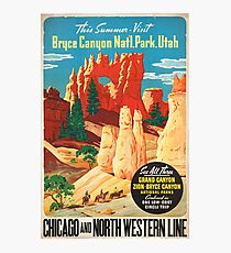 Vintage poster - Bryce Canyon Photographic Print