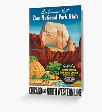 Vintage poster - Zion National Park Greeting Card